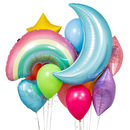 Pastel Rainbow Crazy Party Balloon Bunch