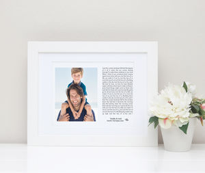 Family Photo Print With Song Lyrics