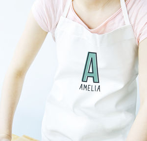 Personalised Monogram Initial Name Apron