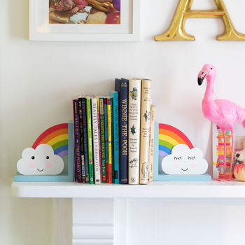Rainbow And Cloud Children's Bookends