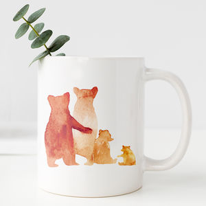 Personalised Bear Family Mug Gift - personalised gifts for families