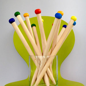 Giant 20mm Wooden Handcrafted Knitting Needles - creative kits & experiences