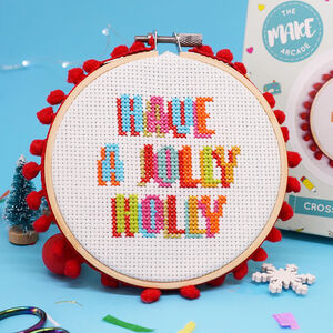 Have A Jolly Holly Cross Stitch Kit