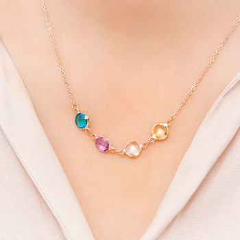 Create Your Own Family Birthstone Necklace