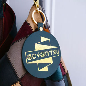 Go Getter Leather Bag Charm And Keyring