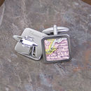 Personalised Square Map Location Cufflinks