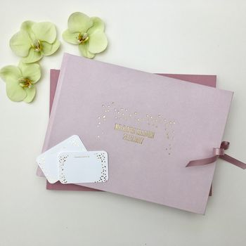 Personalised Pastel Pink Wedding Guest Book