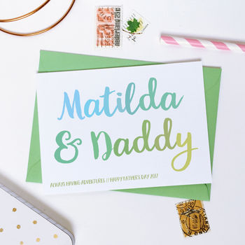 Personalised Daddy And Me Father's Day Card