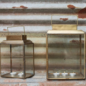 Antique Brass Lantern - lights & lanterns
