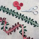 Chritmas Holly Ribbon Trim