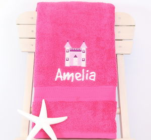 Girl's Personalised Fairy Princess Bath Towel
