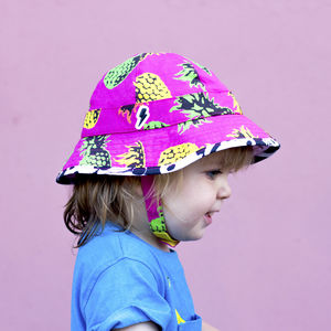 Children's UV Pineapple Floppy Hat