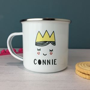 Cute Princess Personalised Enamel Mug - children's tableware