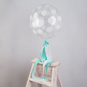 Personalised Spot Bubble Balloon - outdoor decorations