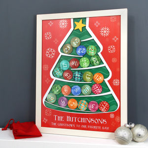 Personalised Wooden Advent Drop Box - advent calendars