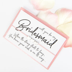 Will You Be My Bridesmaid Wish Bracelet | Modern - be my bridesmaid?