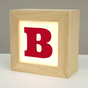 Personalised Solid Wood Alphabet Lightbox - children's room