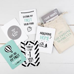 Contemporary Pregnancy And Baby Milestone Moment Cards