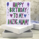 Personalised Mummy Birthday Book Card