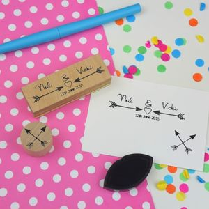 Arrows Wedding Favour Stamp