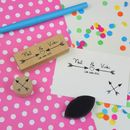 Personalised Arrows Wedding Favour Stamp
