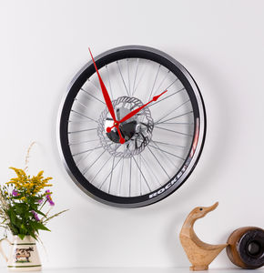 Racing Bike Wheel Clock With Brake Disc Small - clocks