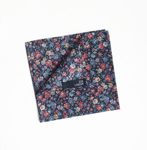 Soho Floral Pocket Square