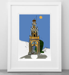 Personalised Special Place Or Building Illustration