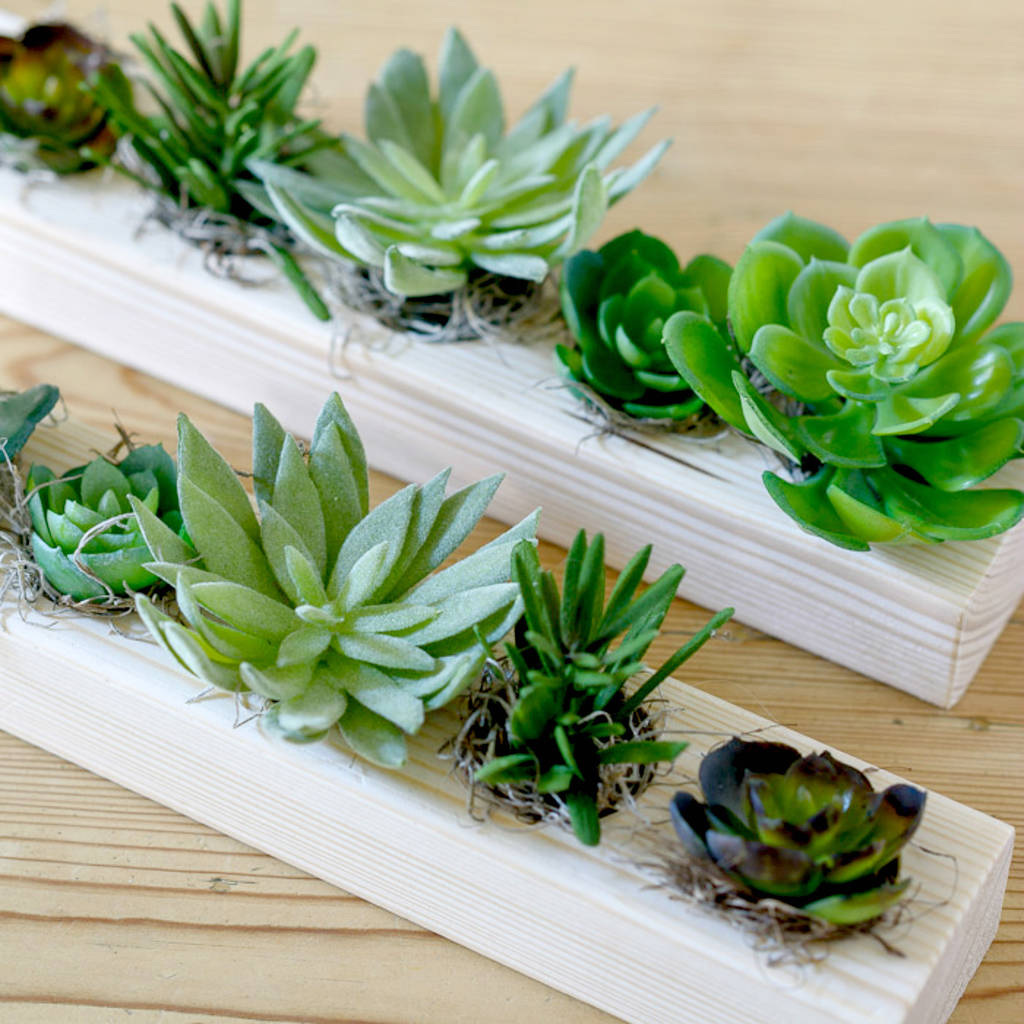 Artificial Mixed Succulent Table Centerpiece
