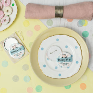 Baby Shower Badge Or Pocket Mirror Party Favour
