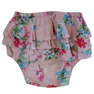Pink Floral Frilly Knickers - clothing
