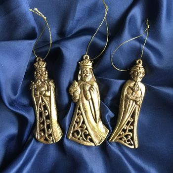 Gold Three Kings Christmas Decorations