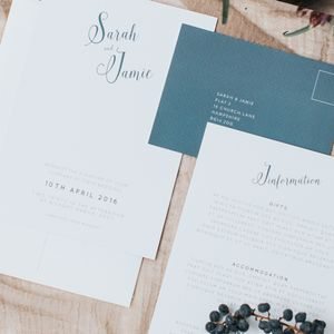 Whimsical Wonder Wedding Invitation Set - save the date cards
