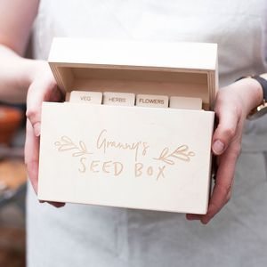 Mothers Day Gardener's Seed Storage Box