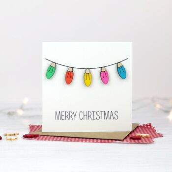 Fairy Lights Christmas Card