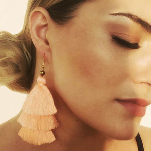 Tassel Earrings In Melon