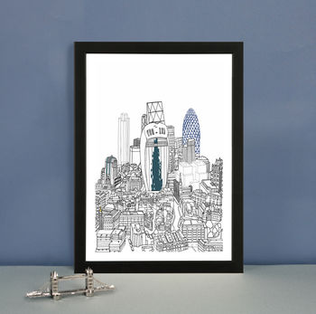 London From Above Limited edition art print