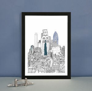 'London From Above' Limited Edition Architectural Print - posters & prints