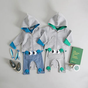 3D Dinosaur Hoodie And Trousers Set - summer sale