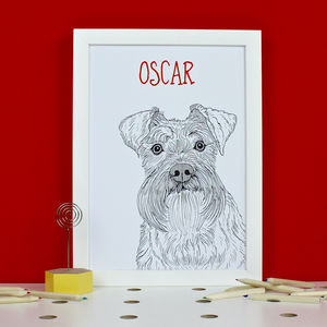 Personalised Schnauzer Print - pet portraits