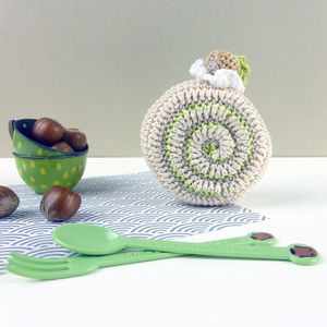 Crochet Cake Hazelnut Pretend Play Soft Toy - soft toys & dolls
