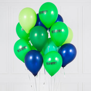 Pack Of 14 Dinosaur Rawr Balloons