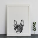Boston Terrier Dog Print