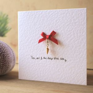 Personalised Sea Shell Keepsake Charm Card - shop by category