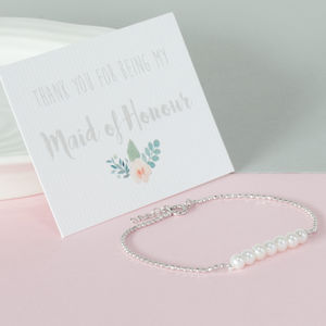 Thank You For Being My Bridesmaid Bracelet - flower girl jewellery