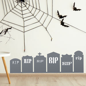 Tombstone Halloween Wall Stickers - party decorations