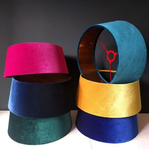 Velvet And Copper Lampshades