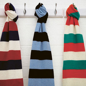 Luxury Cashmere Rugby Scarf In Various Team Colours - sport-lover