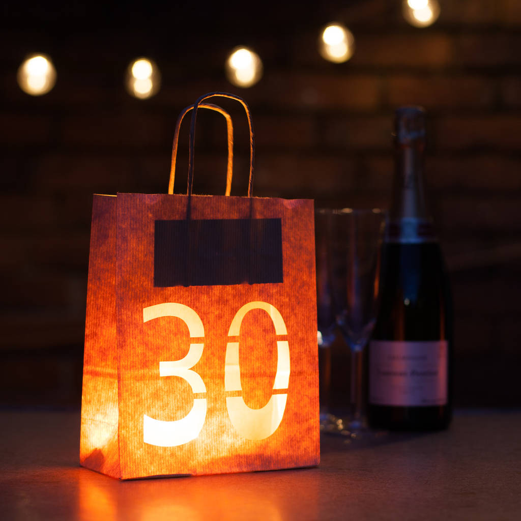 30th birthday party decorations lantern bag by baloolah for 30th birthday decoration