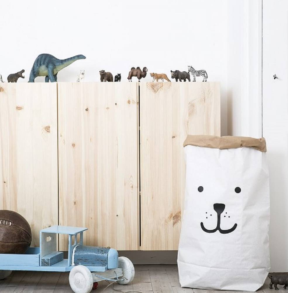 Bear Paper Bag Storage Basket